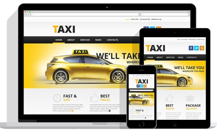 taxi website wordpress templates