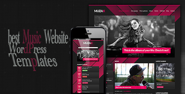 music website wordpress themplates