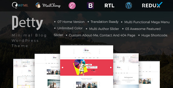 Petty - Minimal Blog WordPress Theme - Premium Wordpress And Ghost Themes  for Blog - Photography - Magazine - Music Sites