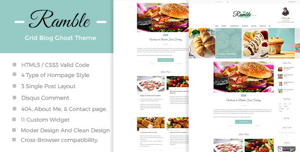 Ramble-Grid-A Responsive Ghost Blog Theme - Premium Wordpress And Ghost  Themes for Blog - Photography - Magazine - Music Sites